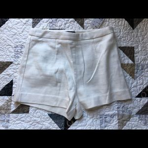 F21 Ivory High-Waisted Shorts in Size Small